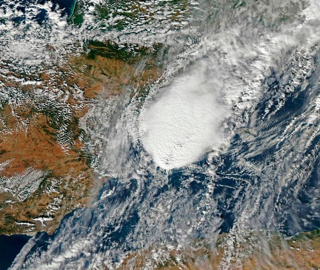 Un posible Compleo Convectivo de Mesoescala afectó a Baleares esta tarde