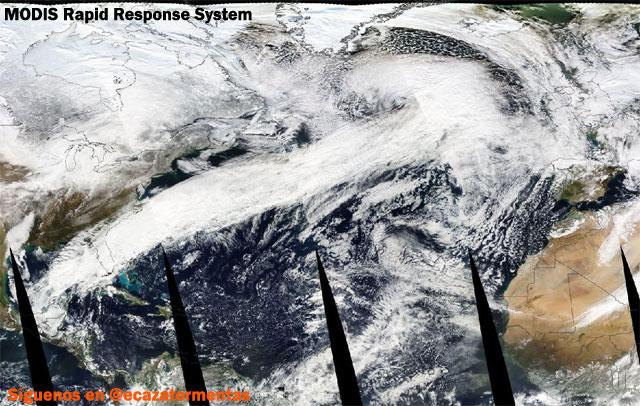 Atlantico Norte – Mediterraneo, Meteorologia Extrema a vista de satelite