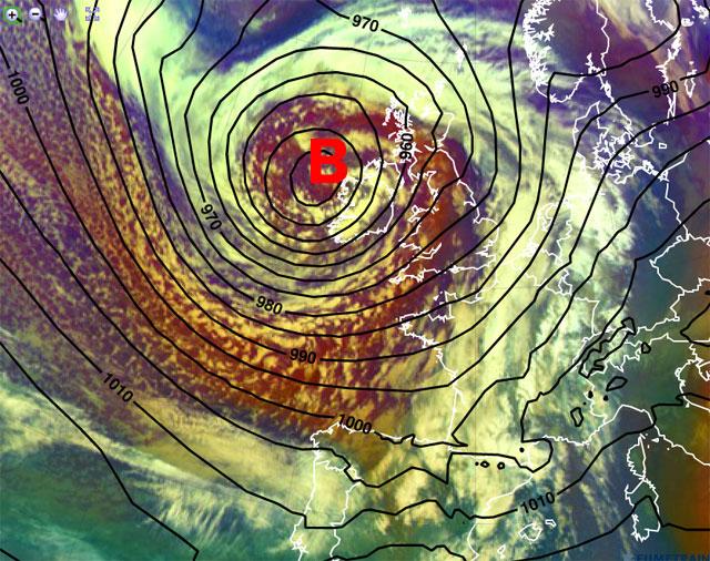 Arrecia el temporal maritimo y viento, borrasca RUTH