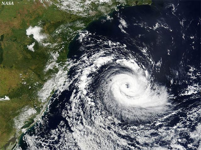 Huracán catarina, satélite AQUA (sensor MODIS). Crédito: NASA.