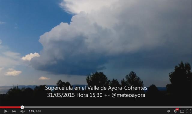 Granizo, lluvia torrencial y al menos una supercelula despiden mayo 2015