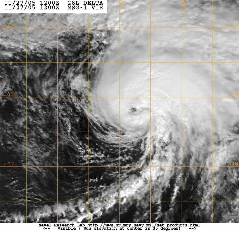 Tormenta tropical Delta y sus efectos en Canarias, decimotercer aniversario