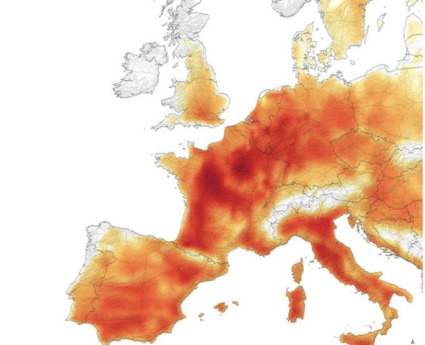 Segunda histórica ola de calor en Europa, verano 2019
