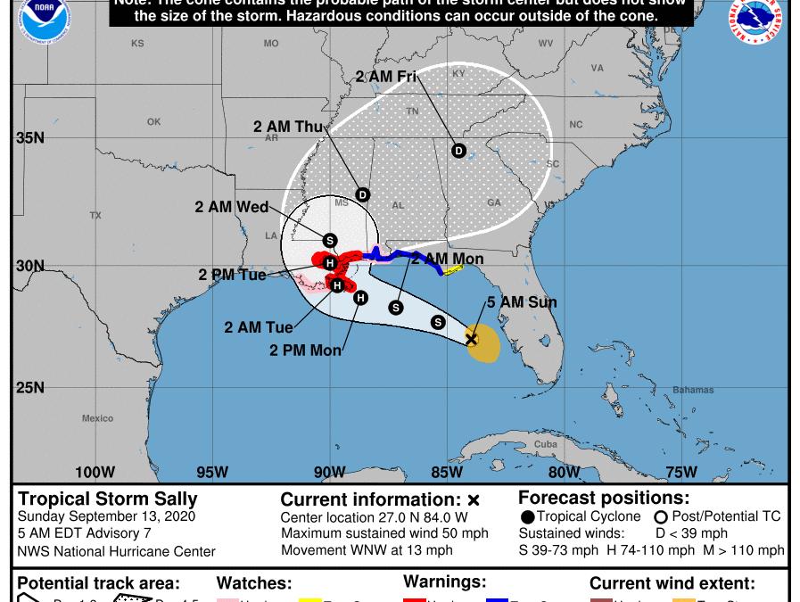Sally, nuevo huracán que amenaza al sur de EE.UU.