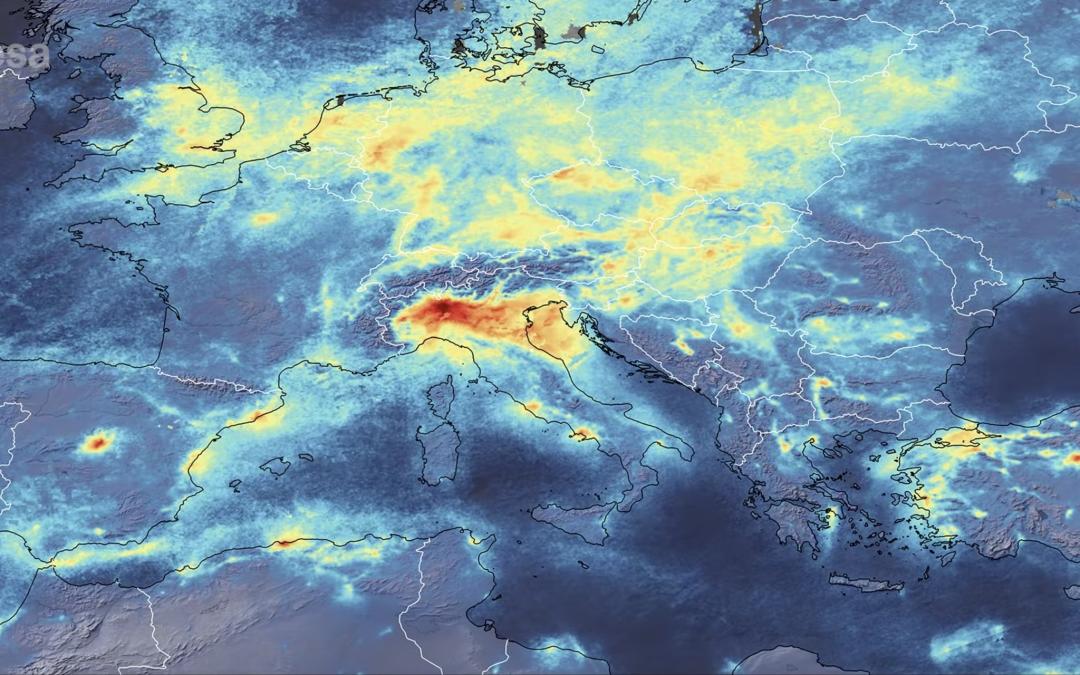 Coronavirus y su influencia en las emisiones de dióxido de nitrógeno en Italia.