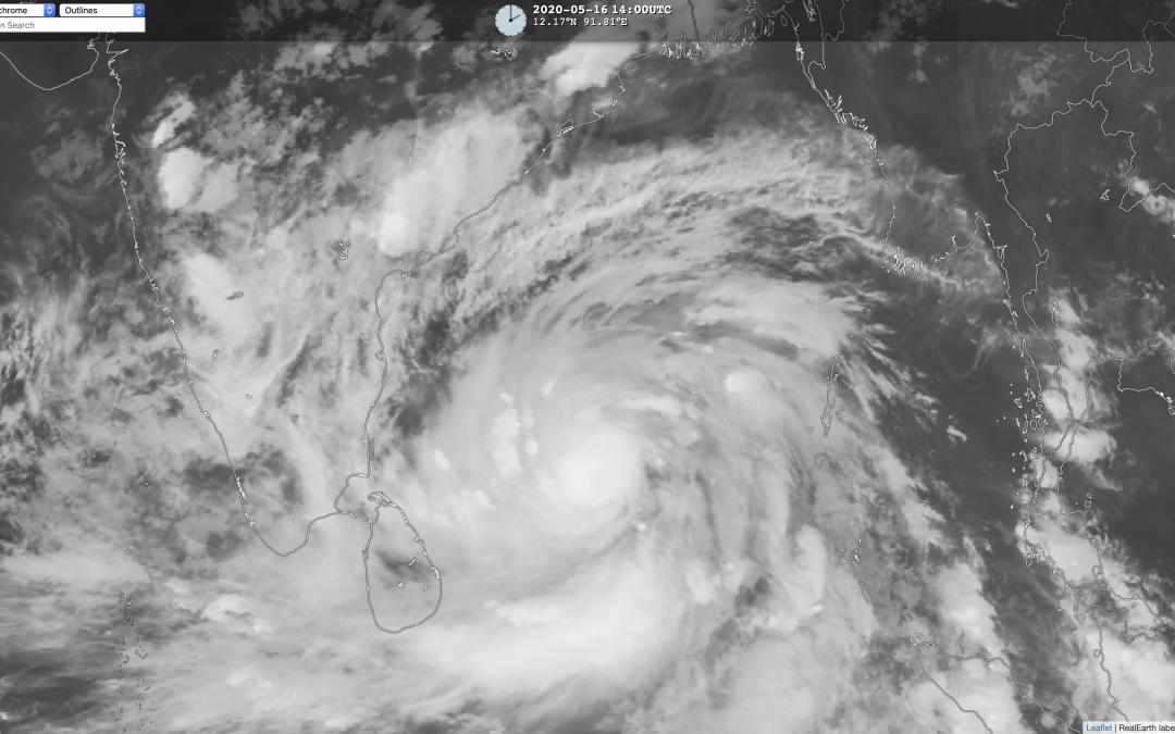 Amphan, primer ciclón tropical de la temporada 2020 en el Golfo de Bengala