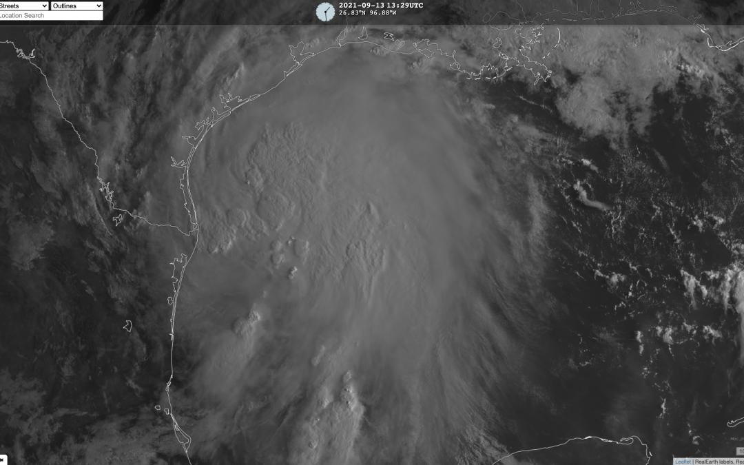 Tormenta tropical Nicholas en el Golfo de México