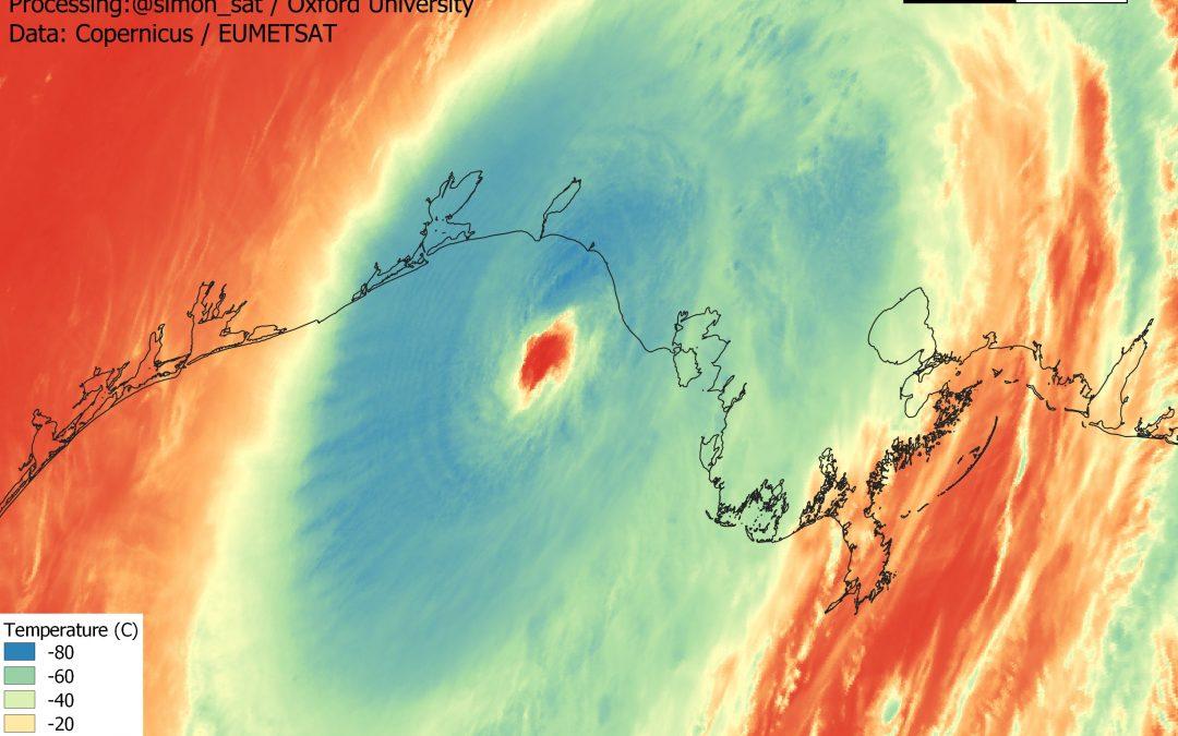 Laura, un histórico huracán en el estado de Luisiana