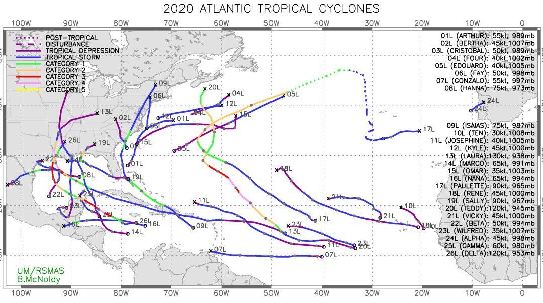 Epsilon y Zeta igualarían el número de ciclones del año 2005