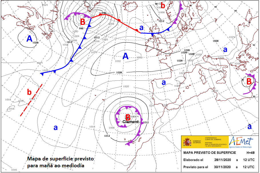 Clement, potencial ciclón subtropical al norte de Canarias