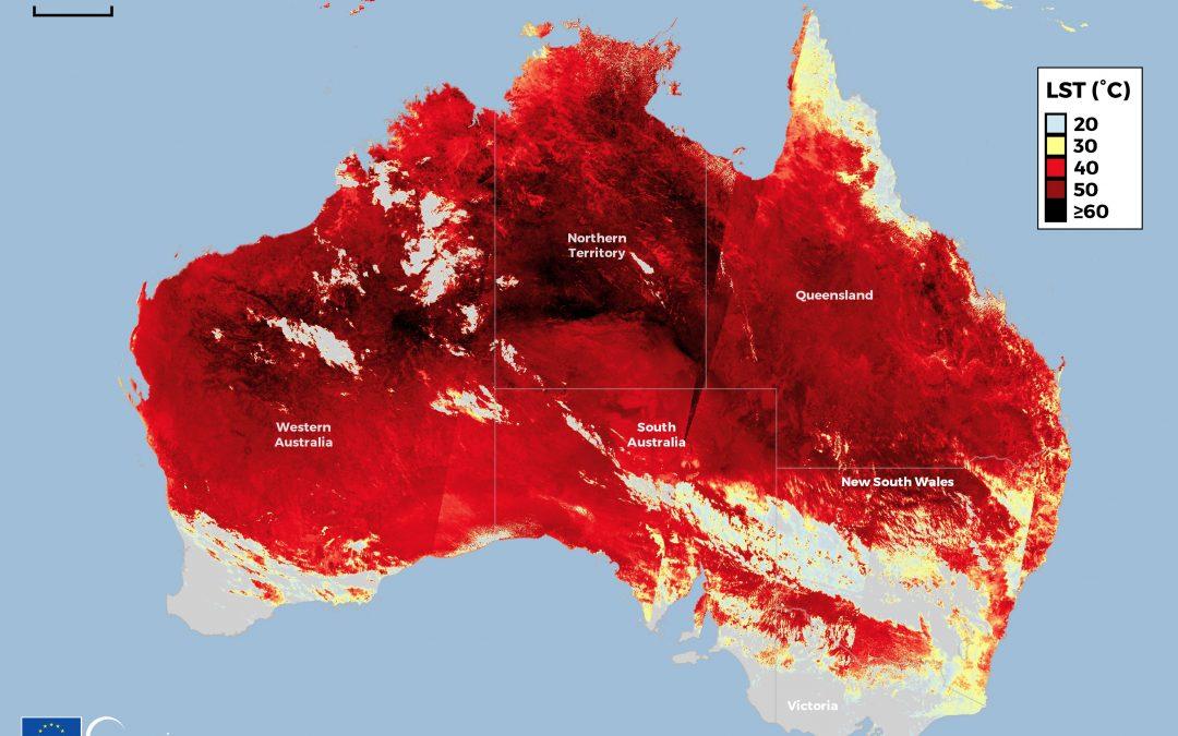 Ola de calor en la primavera australiana 2020