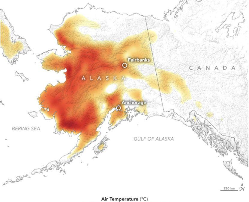 Inicio del verano de 2019: calor histórico en Alaska