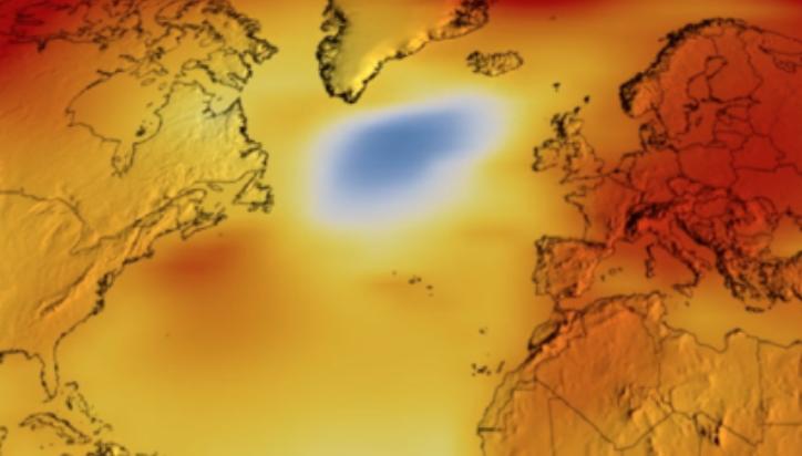 La burbuja de agua fría en el Atlántico llama la atención de los científicos