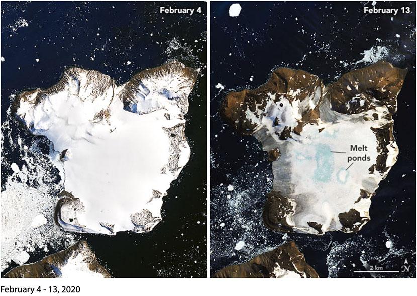 La Antártida se derrite, afectada por las temperaturas más altas jamás registradas