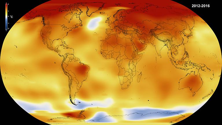 El calentamiento global se vincula a los datos meteorológicos diarios