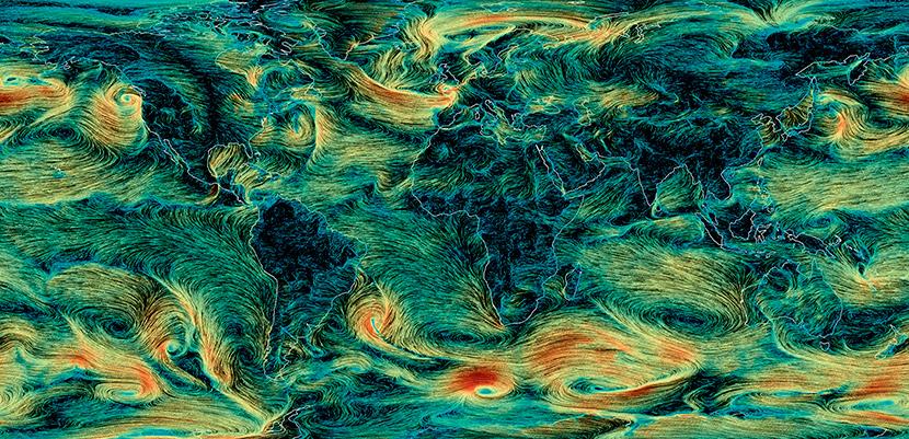 La velocidad del viento en el Planeta está aumentando