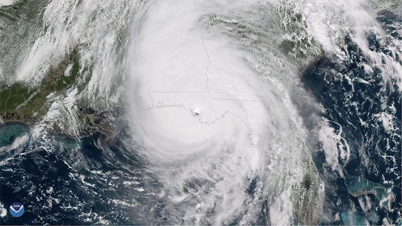 Huracán Michael de octubre de 2018, ascendido a categoría 5 en un reciente post-análisis