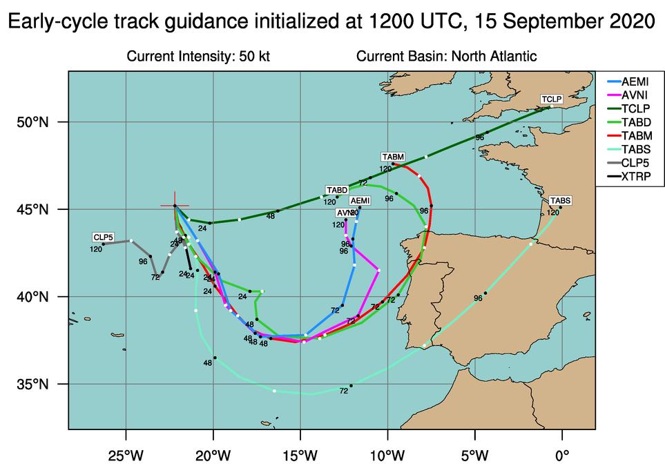 ¿Ciclón tropical al noroeste de la Península Ibérica?