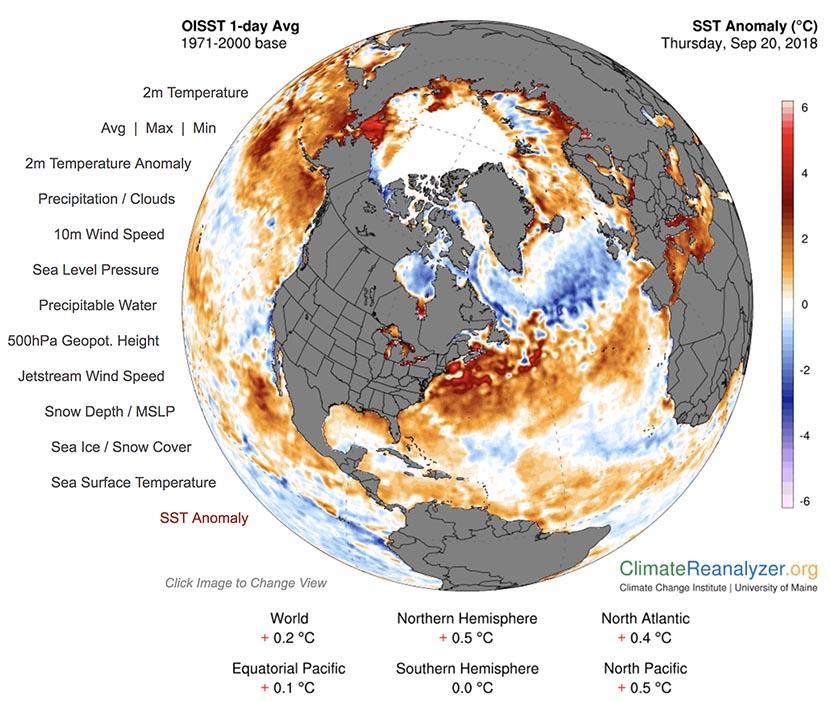 Interesante evolución del patrón atmosférico sobre el Atlántico Norte