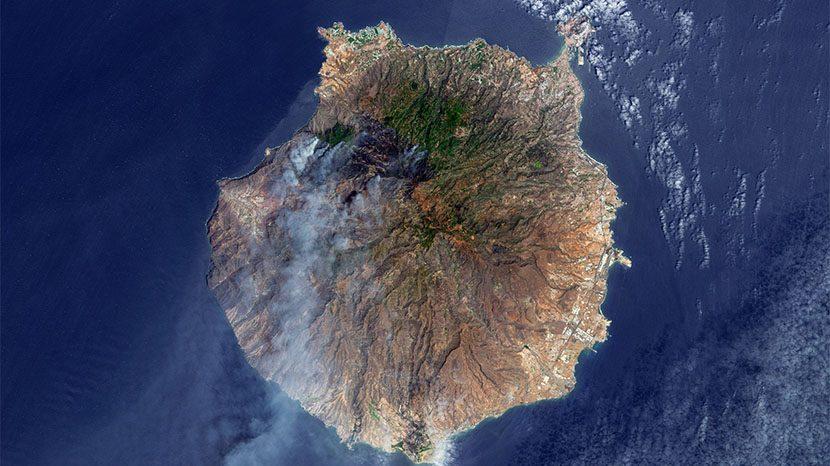 La NASA se hace eco del incendio de Valleseco en Gran Canaria.