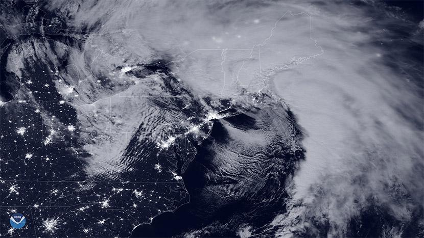 Un ciclón bomba golpea el noreste de los USA