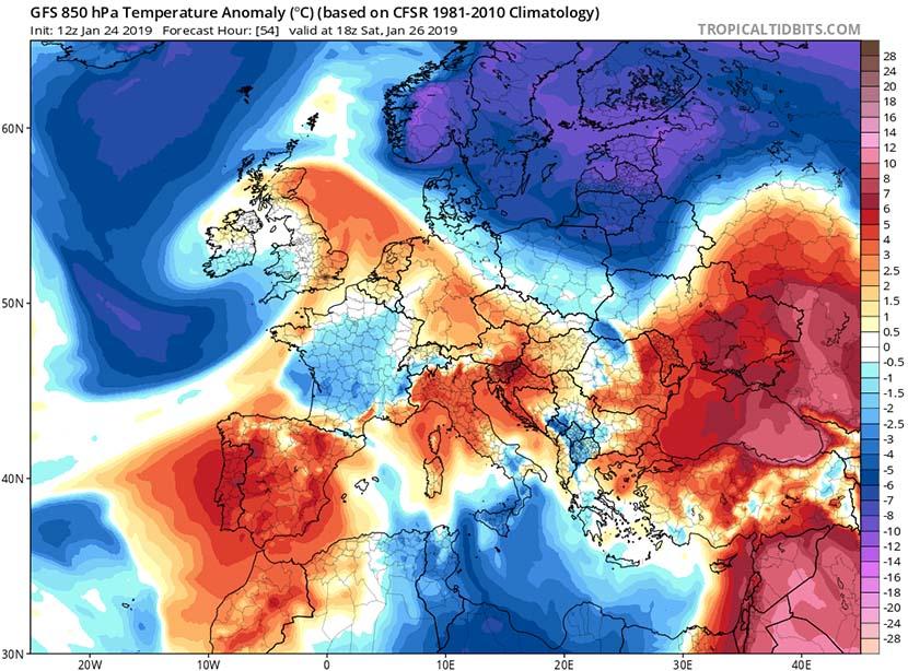 Deshielo importante y nuevos desalojos de aire polar en el horizonte
