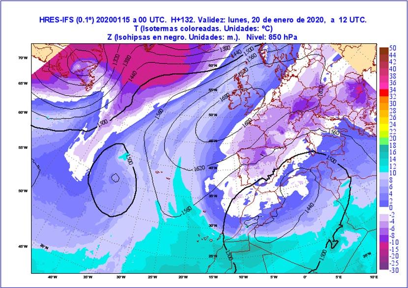 Gestándose el primer temporal invernal de 2020