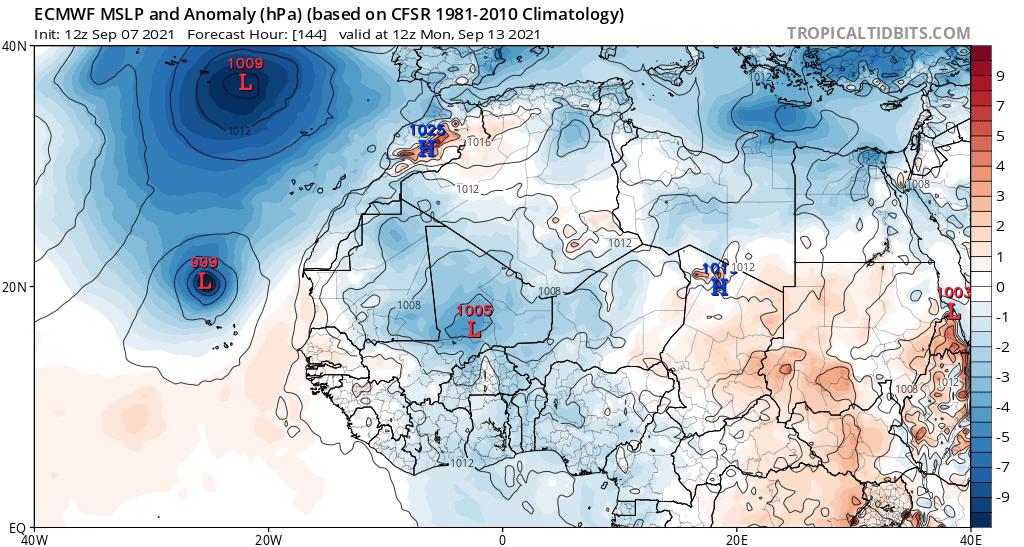 Posible formación de ciclón tropical al sur de Canarias
