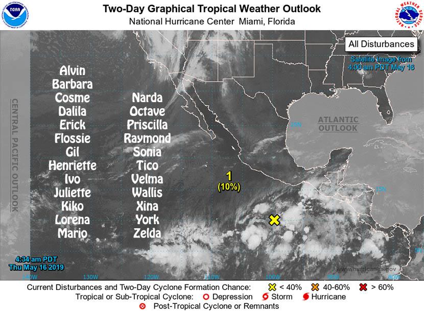 Temporada de huracanes del Pacífico Noreste, comenzó ayer