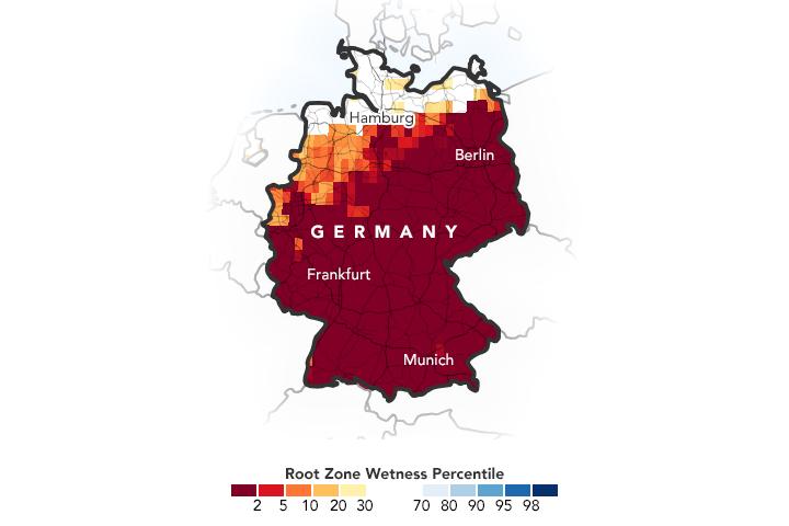 Alemania afronta su tercer verano de sequía