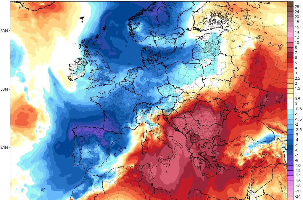 Julio 2021 termina con bajada de las temperaturas