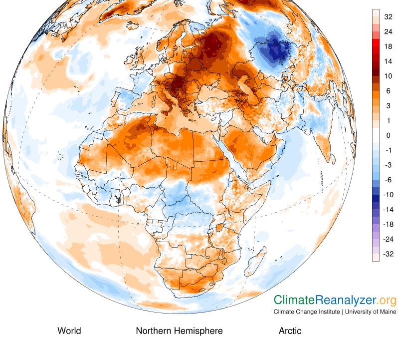 Ola de calor recorre la mayor parte de Europa