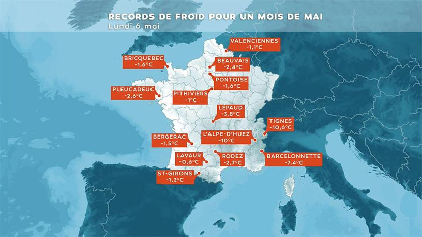 Récords de frío batidos para un mes de mayo en Francia