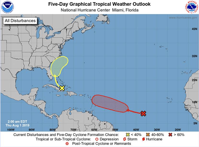 Temporada atlántica de huracanes 2019: vigilando la RDP