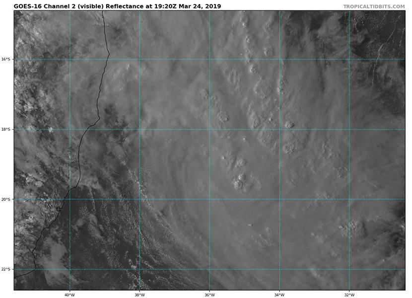 Tormenta tropical IBA frente a las costas de Brasil, Atlántico Sur