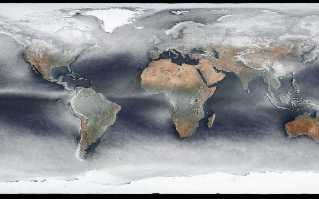 La nubosidad del Planeta en una sola imagen satelital
