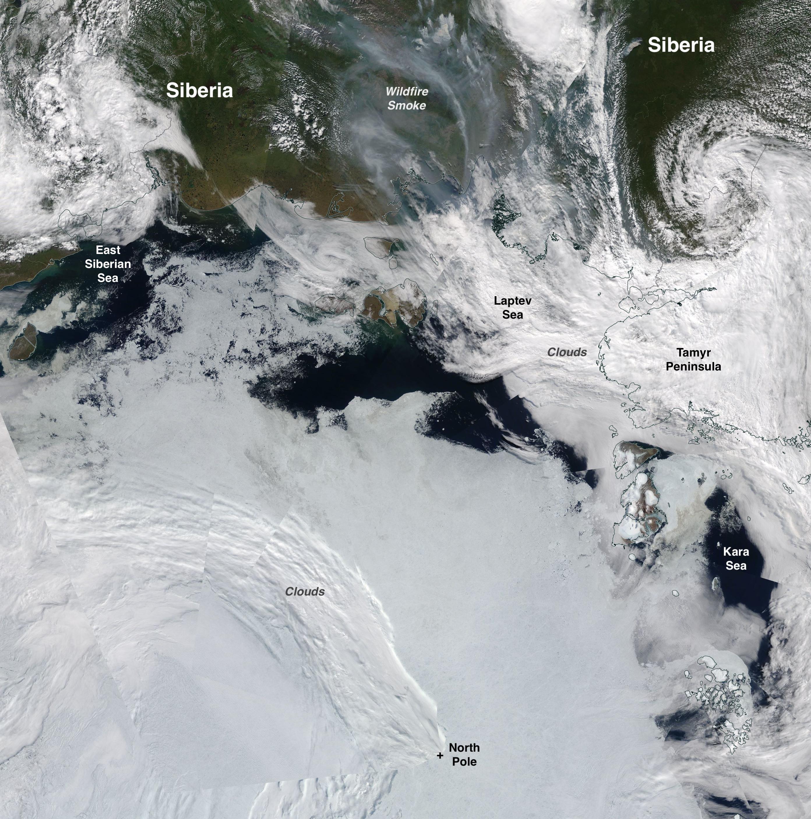La banquisa ártica registra su superficie más baja para un mes de julio