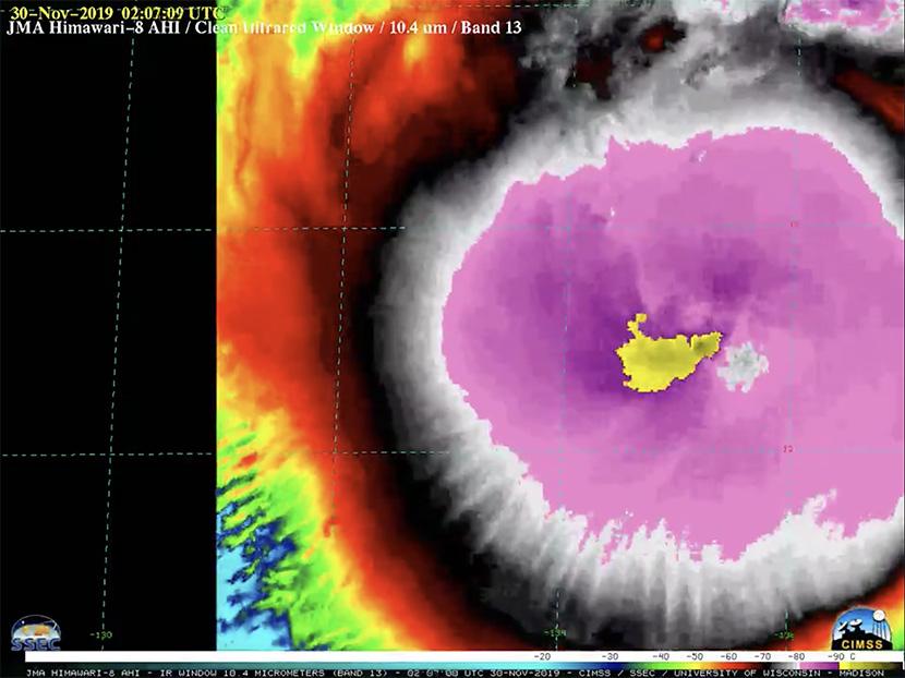 Ciclón Kammuri bate récord de topes nubosos más fríos