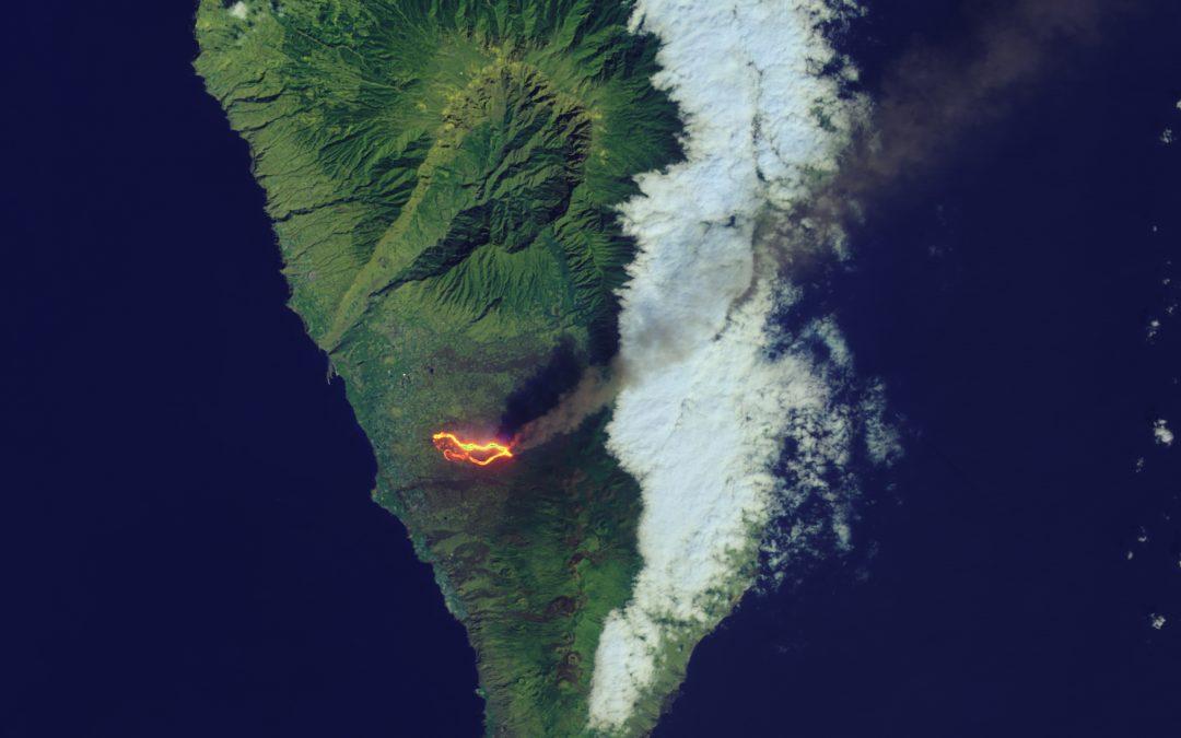 La NASA se hace eco del volcán de La Palma