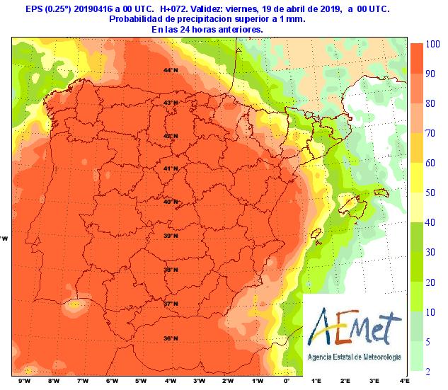 Pronóstico más detallado de lluvia para las próximas horas