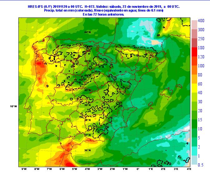 Llega el primer temporal atlántico de lluvias importante