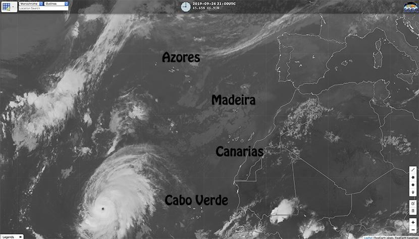 Huracán Lorenzo: las Azores siguen en su punto de mira.