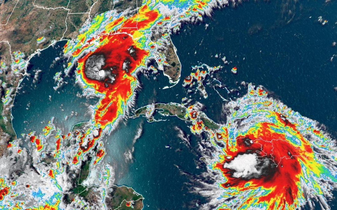 Marco ya es huracán y Laura avanza por el Caribe