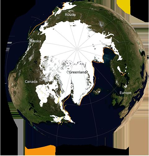 El máximo de la banquisa ártica en 2019 fue el séptimo más bajo