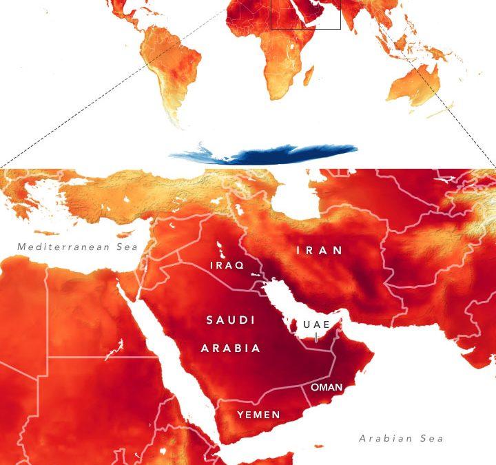 Calor  y frío extremos en Oriente Medio y la Antártida