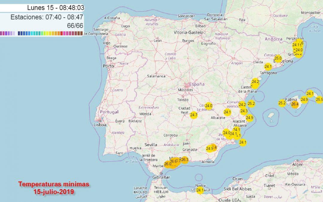 El viento terral dispara los termómetros en zonas del Mediterráneo