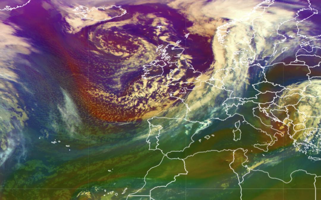 Un frente frío dejará lluvia en casi toda España