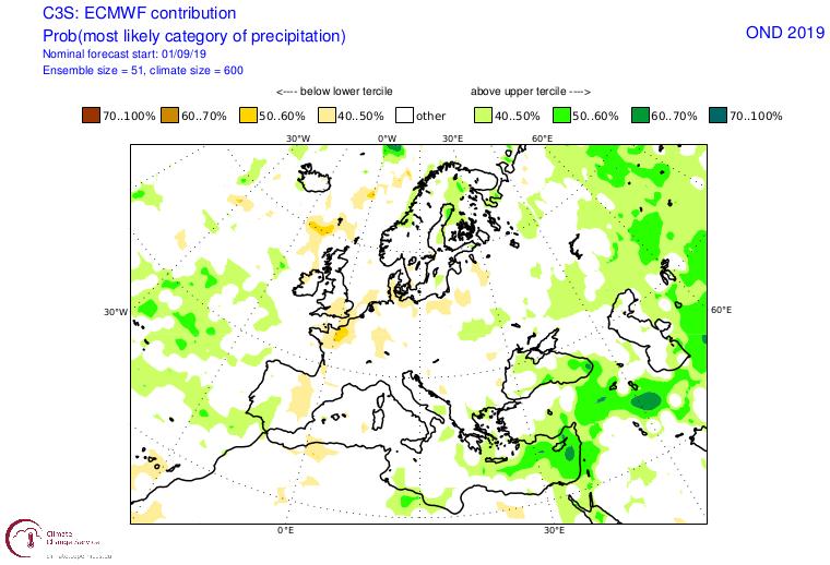 Previsiones estacionales para el otoño-invierno 2019-2020