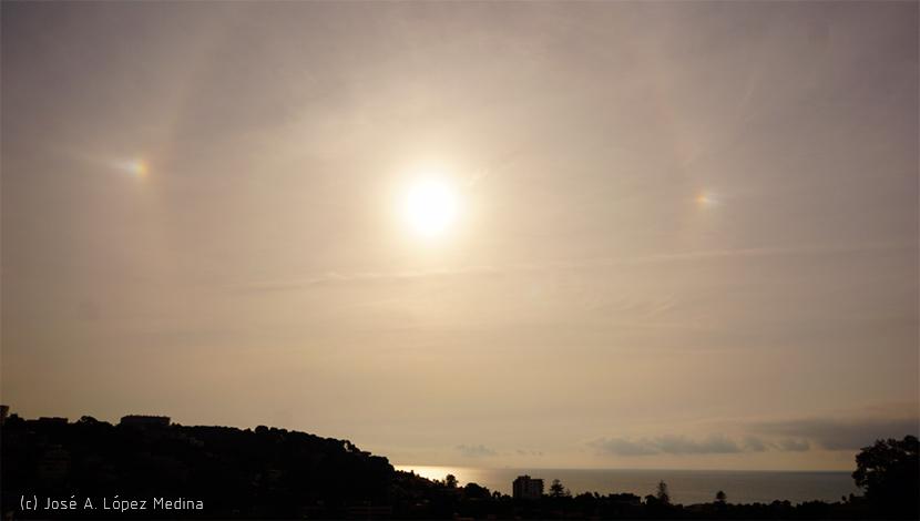 Parhelio y halo de sol