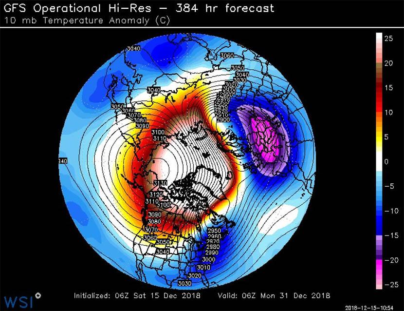 Calentamiento Súbito Estratosférico y predicción meteorológica a medio plazo